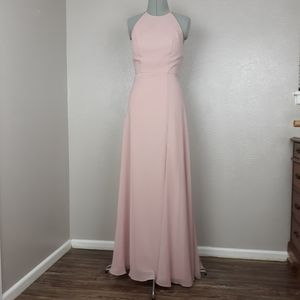 Jenny Yoo Kayla A line halter dress
